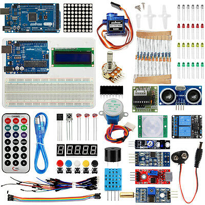 Arduino Starter Kit Uno R3 Board Mega2560 Board Various Sensorsusb Cable