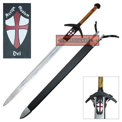 Viking Knights Holy Templar Sword Steel Crusader Medieval Officially Licensed (Knight Sword)
