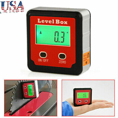 360 Magnetic Digital Lcd Inclinometer Level Box Gauge Angle Meter Protractor Us