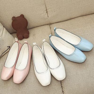 Women Fashion Point Toe Soft Casual Leisure Flats Female Footwear Ballet Shoes 1