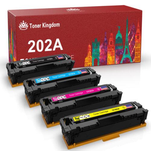 4PK Set for HP CF500A 202A Color Toner Cartridge LaserJet M254dw M281cdw M281fdw