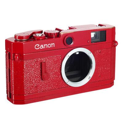 CANON P RF CAMERA REPAINTED MATE PROSCHE RED w/ BRASSING CLA'd EX++ 90D WRT