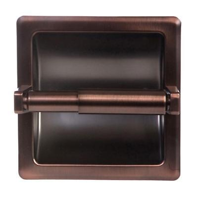 ARISTA Recessed Toilet Paper Holder with Mounting Plate in Oil Rubbed Bronze