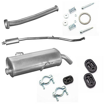 Mittelschalldämpfer Peugeot 206 SW 1.1 1.4 1.6 Kombi Auspuff Montagesatz