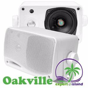PYLE PLMR24 3.5'' 200 Watt 3-Way Weather Proof Mini Box Speaker (Pair)