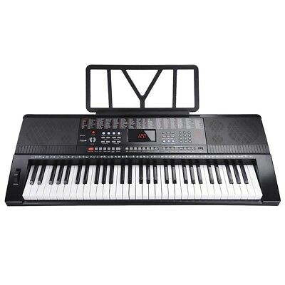 US 61 Key Electric LCD Music Keyboard Piano with USB & MP3 Input- Portable Piano