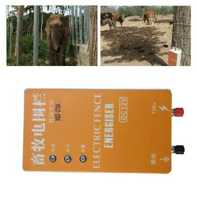 Solar Electric Fence Controller Energizer Charger Ranch Animal Cattle Poultry