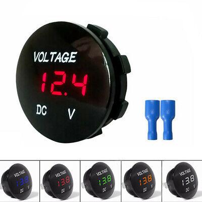 12-24v Voltage Meter Car Marine Motorcycle Led Digital Voltmeter Battery Gauge