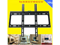 """TV or Monitor Slim Wall Mount Bracket fits Flat screen from 26"""" upto 55"""""""