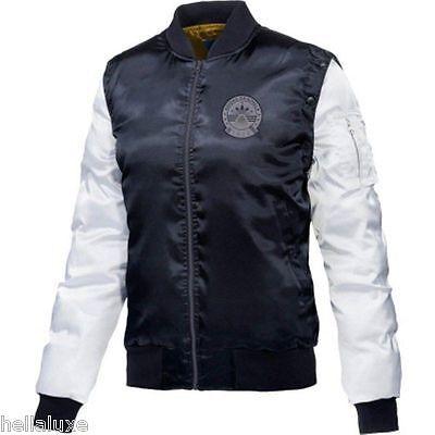 Adidas Rita Ora Cosmic Confession Satin Bomber Sweat Shirt Vest Jacket Womens M