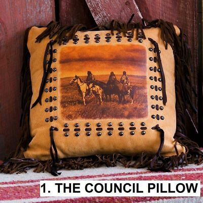 "Handmade 16"" X 16"" Ancient Cowhide Suede Fringe Western Decor PILLOWS 9 STYLES SALE"