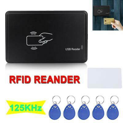 125khz Usb Rfid Id Card Reader Writer Copier Duplicator Door Access 5x Key Tag