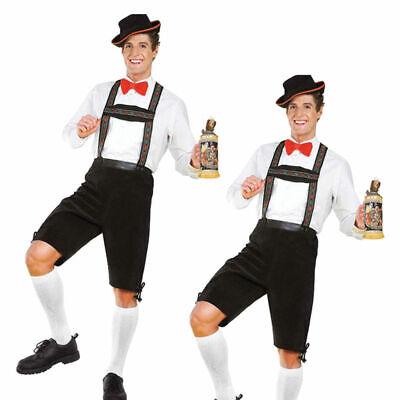 Herren Hänsel Lederhosen Oktoberfest Deutsche Bier Festival Kostüm - Deutsche Lederhosen Kostüm