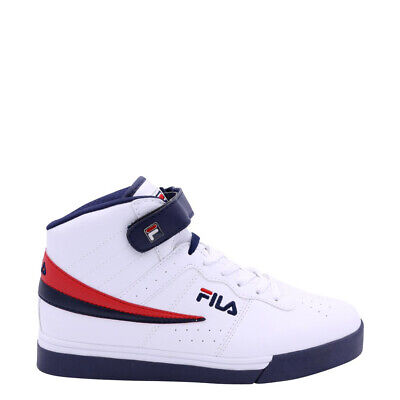 FILA Men's Vulc 13 Mid Plus Shoes: White/Navy/Red - 1CM00347-125