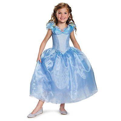 Disney Princess Cinderella Costume Dress Girls Size S 4-6X Dress Up NWT ()