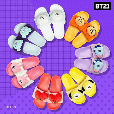 BTS BT21 Official Authentic Goods Limited Plush Slipper 220~250mm 7Characters