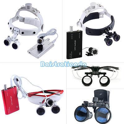 3.5x Dental Surgical Headbandclip Type Binocular Loupesportable Led Headlight