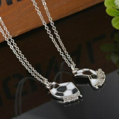 Friendship Love Set Pendant Soccer BEST FRIENDS Necklace Jewelry Football