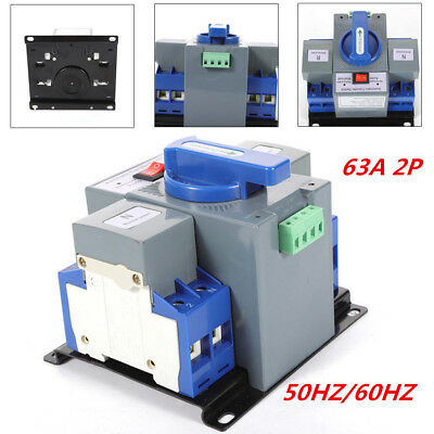 63a 2p 50hz60hz Dual Power Automatic Transfer Switch Cb Level For Generator