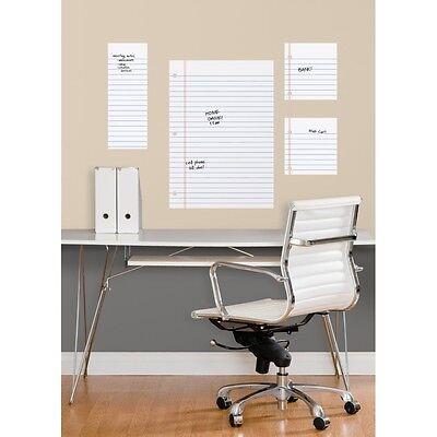 NOTEBOOK PAPER Dry Erase Board WALL DECALS BiG Office Teacher Kids Room Stickers ()
