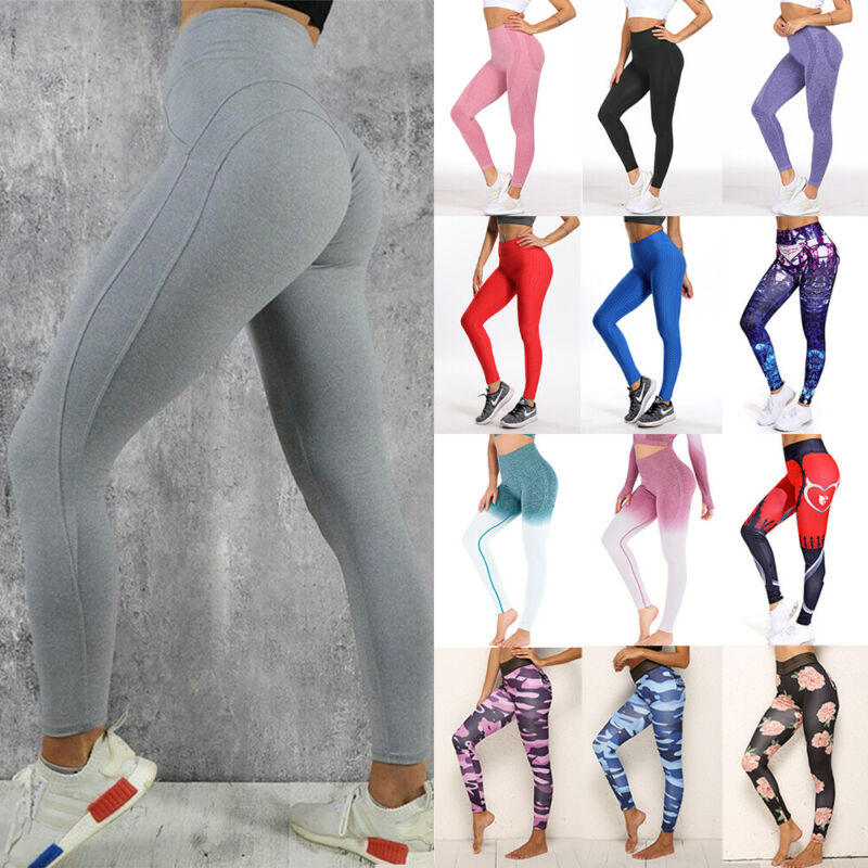 Puerto-Rico-Flag Women High Compression Pants Leggings Fitness Power Yoga Pants