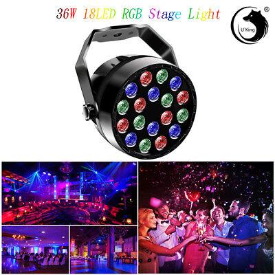U`King 36W 18LED RGB Par Stage Lighting Wash Mini Design DMX512 Wedding Party -