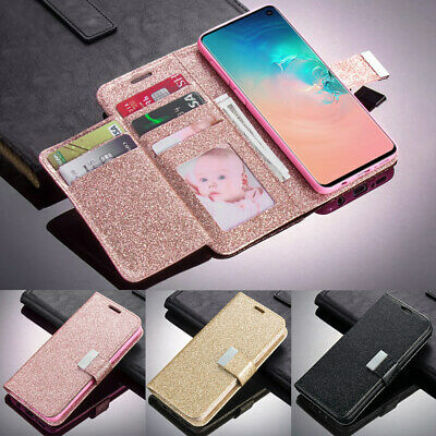 Leather Card Wallet Flip Phone Case Cover For Samsung Galaxy S10 S7 S8 S9 A3 J3