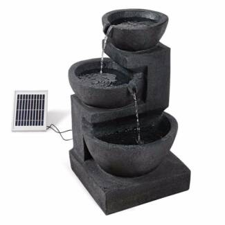 Fountain with solar panel and LED Lights