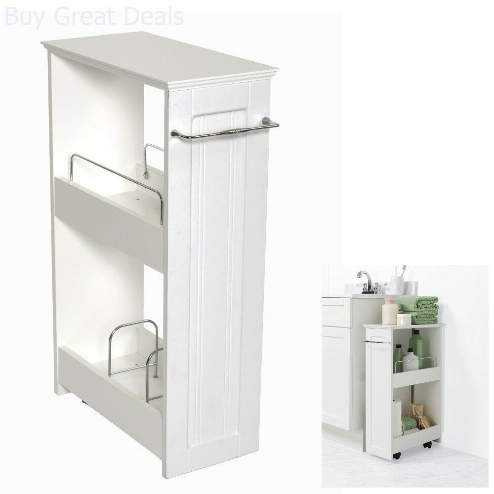 Small Bathroom Cabinet Storage Laundry Room On Wheels ...