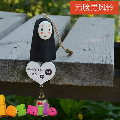 Anime My Neighbor Totoro No Face Ghost Mask Wind Bell Chime Cute Creative MH (Creative Ghost Costumes)