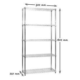 Chrome Wire Shelving for retail shops, storerooms, offices & catering- Brand new