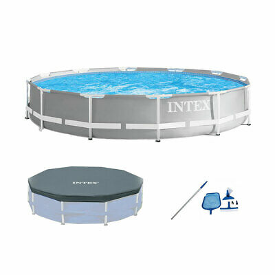 Intex 26711EH Prism Frame Above Ground Pool Set w/ Cover & Maintenance Kit Intex Frame Pool