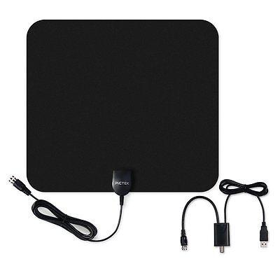 50Miles HD Digital Indoor VHF UHF HDTV TV Amplified Antenna Signal High Gain