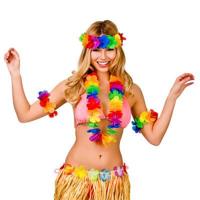 Wakikihawaiian Glamourös Vier Stück Hula-Mädchen Satz Damen Kostüm Zubehör