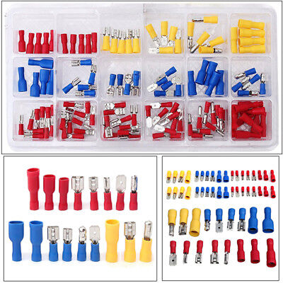 120Pcs Set Insulated Electrical Wire Cable Terminal Crimp Connectors Kit Latest