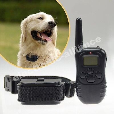 NEW LCD 100LV Level Shock Vibra Remote Pet Dog Training Collar For 10lb-130lb on Rummage