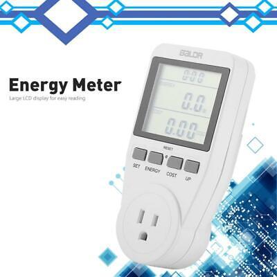 125v Lcd Display Power Volt Watt Meter Plug Electricity Usage Monitor Equipment