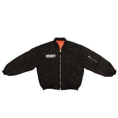 Rothco 7357 Black Ma-1 Security Flight Jacket
