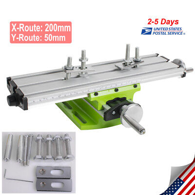 Ce Milling Machine Work Table Cross Slide Bench Drill Press Vise Fixture Us Ship