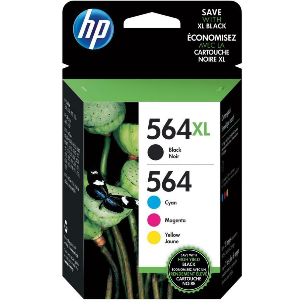 4-pack Hp Genuine 564xl Black & 564 Color Ink (no Retail ...