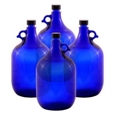 4 Unidad Globo de Cristal Botella 5 Litros Azul - Galón Damajuana...