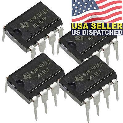 4x Texas Instruments Ne555n Ne555 Ne555p Timeroscillator Single Ic 100kh