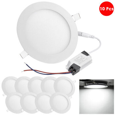 - DELight 10 Pcs Round LED Recessed Ceiling Panel Down Light 12W Downlight Lamp