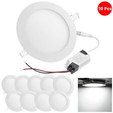 DELight 10 Pcs Round LED Recessed Ceiling Panel Down Light 12W Downlight Lamp