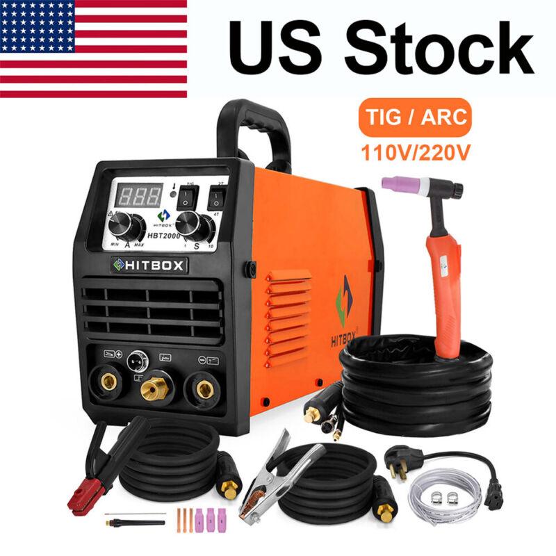 LED TIG Welder 110/200V Dual Volt Inverter HF TIG MMA Stick ARC Welding Machine