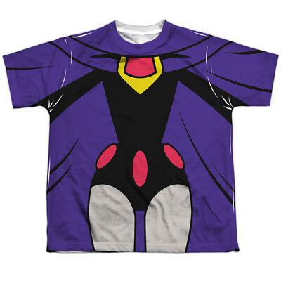 Teen Titans Go Raven Costume (Authentic Teen Titans Go Raven Uniform Costume Outfit Youth Front T-shirt)