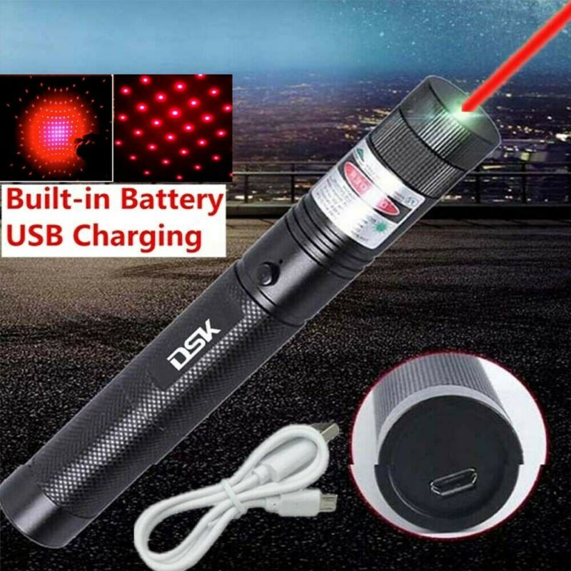 900miles Super Strong Red Laser Pointer Pen Astronomy Star Beam USB Rechargeable