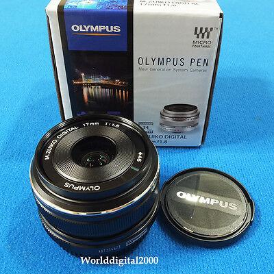 Olympus M.Zuiko 17 mm F1.8 Lens Color:Black Special Edition-Olympus Retail Box-