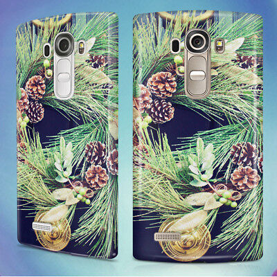 CHRISTMAS DECORATION DOOR WINTER HARD BACK CASE COVER FOR LG PHONES (Door Covers For Winter)