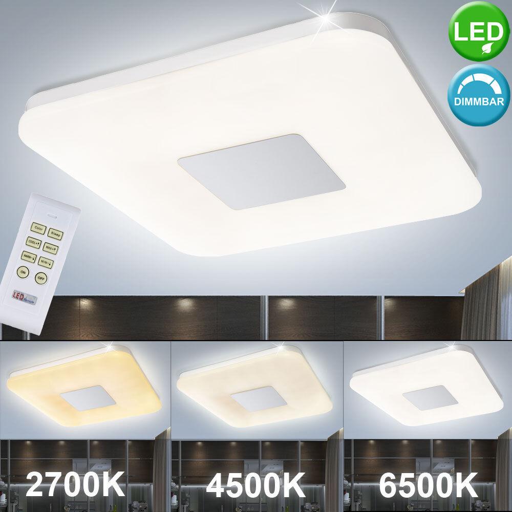 LED 35W Design Decken Leuchte mit Fernbedienung Dimmbar Schlaf-Wohn-Zimmer Lampe
